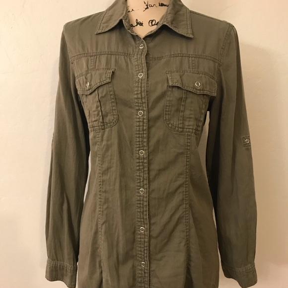 Cotton On Tops - Olive green long sleeve women's shirt